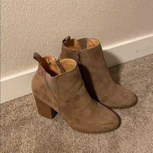 Express heeled booties